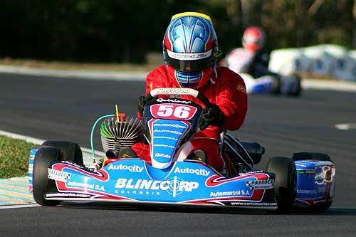 Kart - Brasileiro: Carlos Huertas a 3ª bateria da Junior