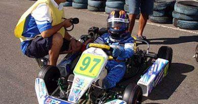 Kart: Mesmo com problemas no equipamento, Daniel Saleme termina prova em 2º