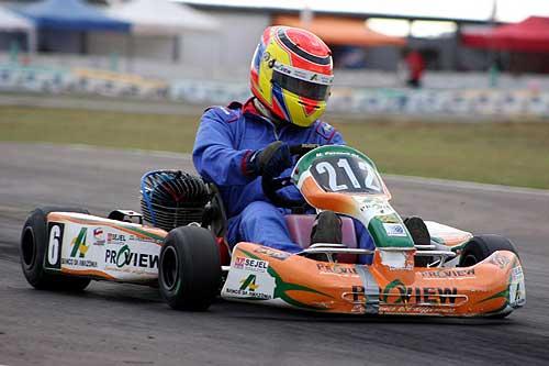 Kart - Brasileiro: Dia de aprendizado para Marcio Pasaneli