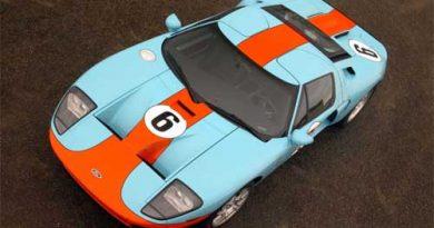 Outras: Ford revela layout do novo GT3 com pintura que remete aos tempos da Gulf
