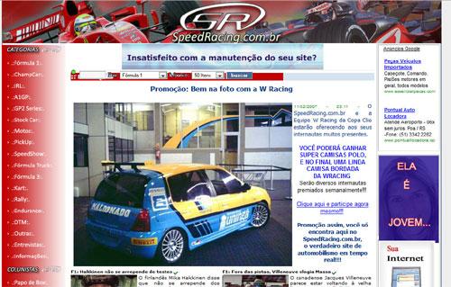 Informação: SpeedRacing.com.br está mudando seu layout
