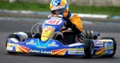 Kart: Antes de começar a temporada de 2007, Jonathan Louis está treinando em diferentes pistas do país