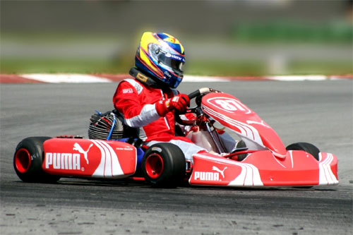 Kart: Victor Guerin sofreu com o 'Troféu Bigorna'