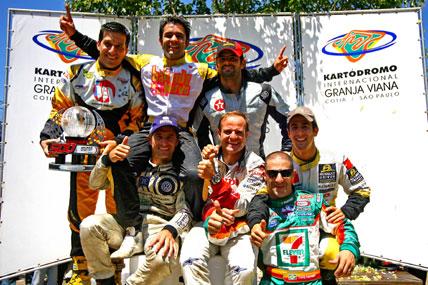 Kart: Barrichello e Kanaan vencem pela 7ª vez na Granja Viana