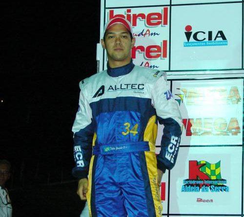 Kart: Fábio Gomide estréia no Sul-Brasileiro comemorando um 2º lugar