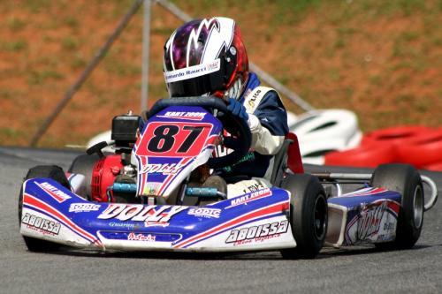 Kart: Leonnardo Raucci tem capacete que dá medo