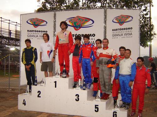 Kart: Vinicius Alvarenga e Mateus Protti terminaram em 3º na Stock 125