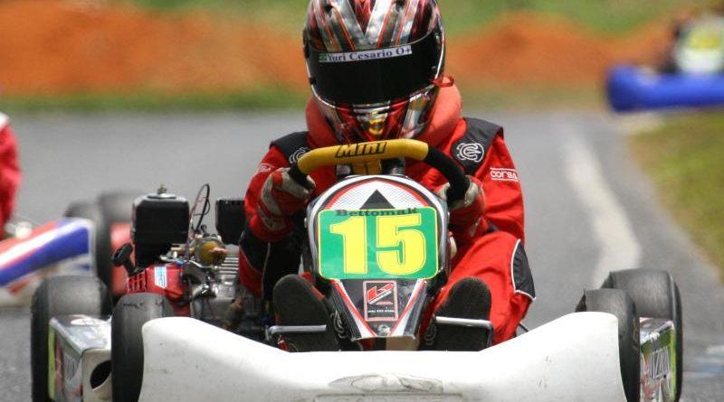 Kart: Yuri Cesário conquista três títulos em um dia