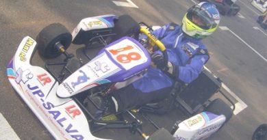 Kart: Ricardo Sargo fica entre os mais rápidos, mas sofre problema elétrico e abandona
