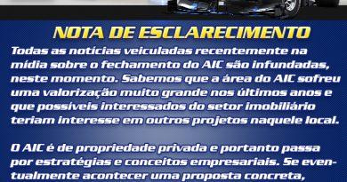 Automobilismo Paranaense: AIC divulga nota negando destivação do autódromo