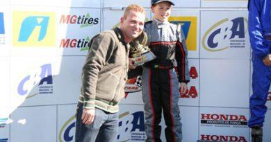 Kart: Matheus Leist subiu no pódio em seu primeiro torneio internacional