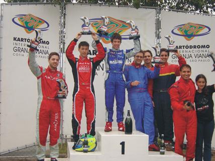 Kart: Vinicius Alvarenga brilha e conquista vitoria memorável na stock 125