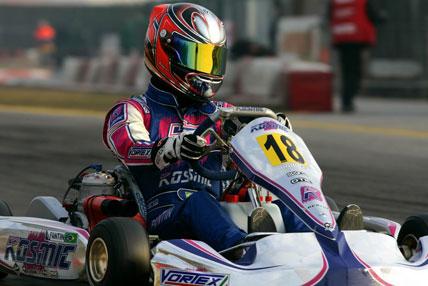 Kart: Pietro Fantin tem saldo positivo em sua estréia internacional