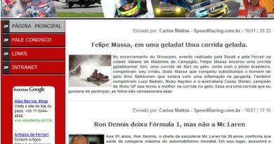 Informações: SpeedRacing.com.br lança Blog, confira!