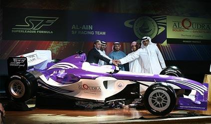 Formula Superleague: Time dos Emirados Árabes Unidos apresenta carro
