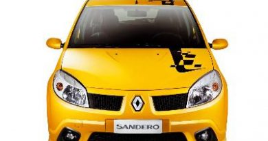 """Outras: Renault lança o """"Sandero F1 Team"""", série exclusiva com visual inspirado nos carros da equipe Renault de F1"""