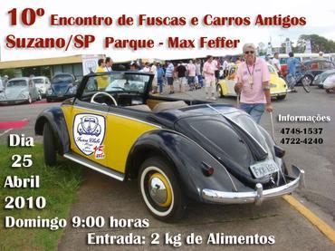 10º encontro de Fuscas e Carros Antigos acontece neste domingo, em Suzano