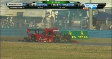 24 Horas de Daytona: Batida forte paralisa a prova