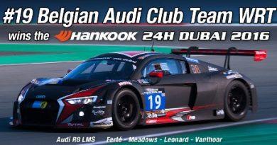 24 Horas de Dubai: quarteto da Belgian Audi Club Team WRT vence a edição de 2016