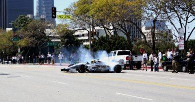 Fórmula E: Lucas di Grassi mostra o carro elétrico em Los Angeles