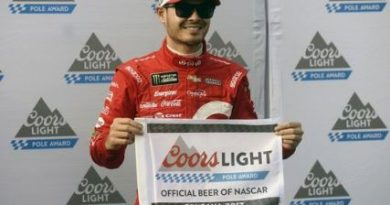 NASCAR Monster Energy Cup Series: Chuva cancela treino e Kyle Larson alinha na pole em Martinsville