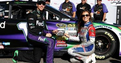 NASCAR Sprint Cup: Denny Hamlin marca a pole em Pocono