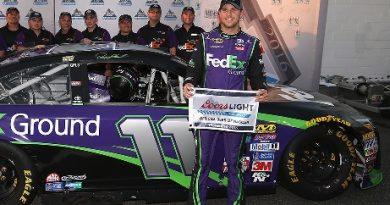 NASCAR Sprint Cup Series: Denny Hamlin marca a pole em Richmond