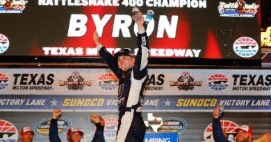 NASCAR Truck Series: Wiliam Byron vence no Texas