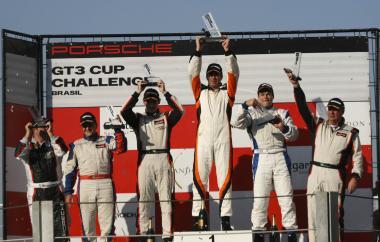 Porsche GT3 Cup: Constantino, Paludo e Baptista repetem o pódio em Interlagos