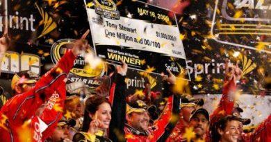 Nascar Sprint Cup Series: Tony Stewart vence a All- Star Race e fatura um milhão de dólares