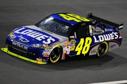 Nascar Sprint Cup Series: Jimmie Johnson marca a pole-position no Lowe's Motor Speedway