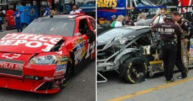 Nascar Sprint Cup: Pilotos da Stewart-Haas Racing colidem no último treino antes da Daytona 500