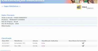 Jogos: Forza Horizon 4 é encontrado em site brasileiro de classificação indicativa