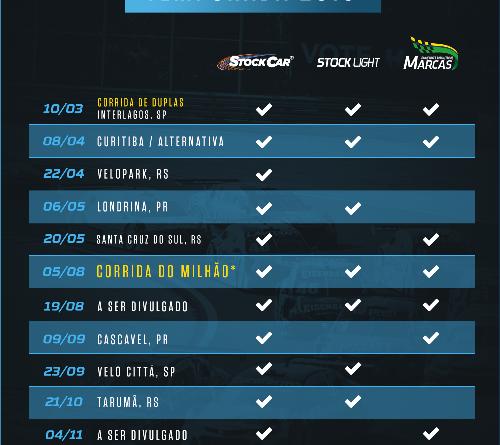 Stock Car: Anunciado o calendário da temporada 2018