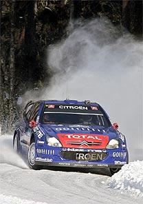 Rally: Gronholm aumenta liderança sobre Loeb no rally da Suécia