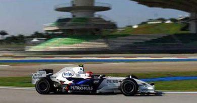 F1: Kubica é o mais veloz em Sepang