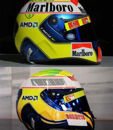 F1: Felipe Massa muda desenho do capacete