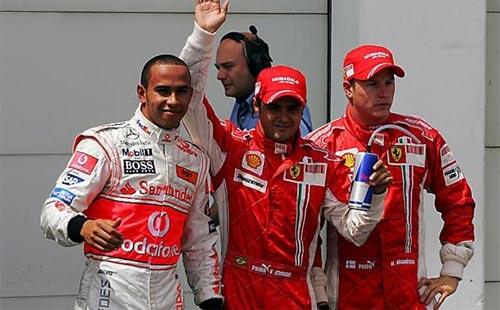 F1: Felipe Massa crava a pole à frente de Hamilton na França