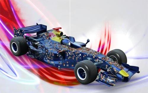 F1: Coloque sua foto no carro de F1 da Red Bull Racing doando para caridade