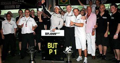 F1: Jenson Button vence prova encerrada pela forte chuva