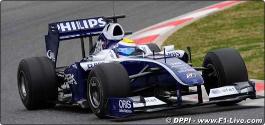 F1: Williams ainda não consegue resolver problema com Kers