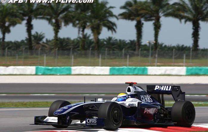 F1: Willliams abre trabalhos na Malásia na liderança