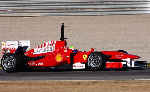 F1: Massa encerra primeira manhã de testes na frente