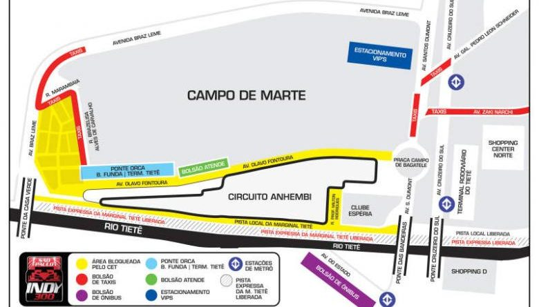 IndyCar: CET implantará operação especial de trânsito para a Indy em São Paulo