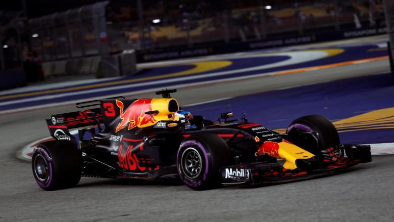 F1: Ricciardo confirma força da Red Bull em Singapura e lidera também o 2º treino