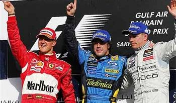 F1: Alonso vence no Bahrein