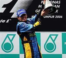 F1: Fisichella vence com autoridade na Malásia