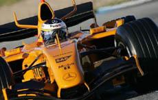 F1: Melhor tempo do dia é de De la Rosa