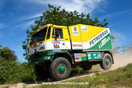 Rally Dakar: Caminhão brasileiro sobe para 3° no segundo dia