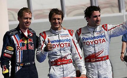 F1: Trulli coloca a Toyota na pole position